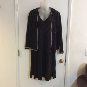 Max Studio Black Sleeveless Knit Dress w/Jacket